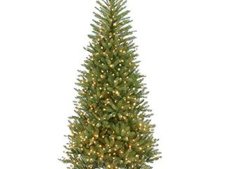 National Tree Company Pre lit Artificial Christmas Tree   Includes Pre strung White lights and Stand   Dunhill Fir Slim   6 5 ft
