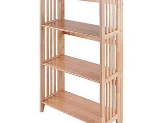 Winsome Wood Mission Shelving  Natural