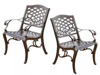 Hammered Bronze Chairs no description may differ from stock photo