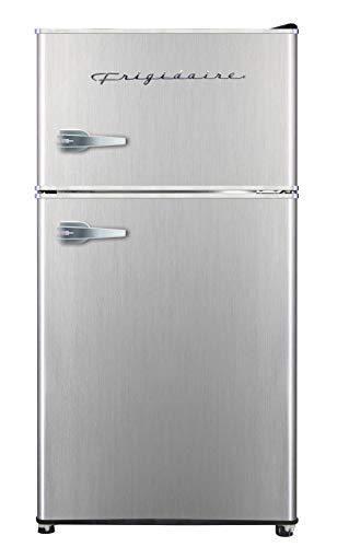 Frigidaire EFR391  3 2 cu ft 2 Door Fridge and Freezer  Platinum Series  Stainless Steel  Double