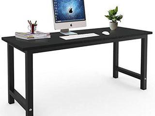 Computer Desk  Modern Study Desk Simple Style Writing Desk 63 inch  Black