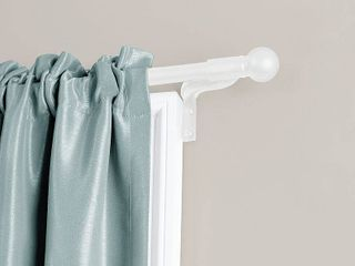 Smart Rods Easy Install Cafe Window Curtain Rod  Ball Finial