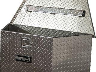 1701380 Diamond Tread Aluminum Trailer Tongue Truck Box  15x14 5x34 20 7 Inch    Silver
