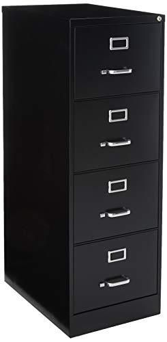 lorell 4 Drawer Vertical File  18 by 26 1 2 by 52 Inch  Black