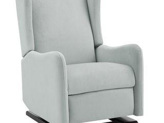 Baby Relax Rylee Tall Wingback Glider Recliner  light Grey linen