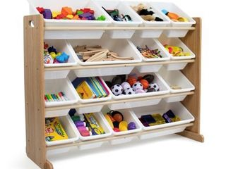 Kids Super sized Toy Organizer Journey Collection Natural White   Humble Crew