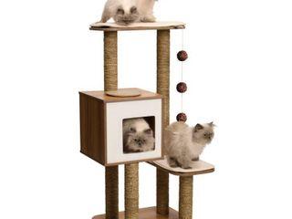 Vesper V High Base Cat Furniture   Walnut