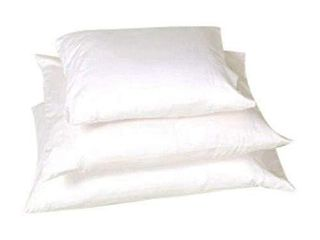 2 White lotus Home OCPZ06 100  Cotton Sleep Pillow with Organic Sateen Outer Case with Zipper  20x30 Queen Firm  Natural