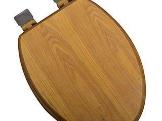 Bath DAccor 5F1E1 17BN Elongated light Oak Toilet Seat USED
