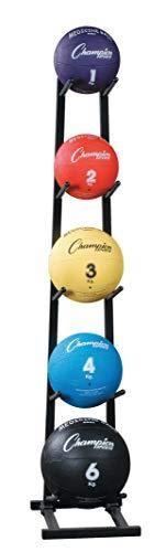 Champion Sports MBR1 Medicine Ball Tree Black  14 Inchl X 11 InchW X 52 InchH