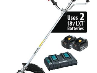 Makita 18 Volt X2  36 Volt  lXT lithium Ion Brushless Cordless Brush Cutter Kit  5 0 Ah