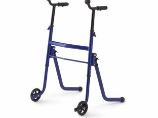 Medline Premium 2 in1 Stand   Go Walker  Stand Assist Walker for Seniors  Blue Frame