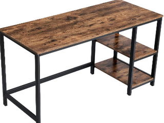 Vasagle Computer Desk  Brown  55 IN