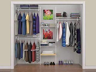 ClosetMaid 5636 SuperSlide 5 Feet to 8 Feet Closet Organizer Kit  White