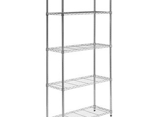 5 Tier Chrome Heavy Duty Adjustable Shelving Unit with 200 lb Per Shelf Weight Capacity