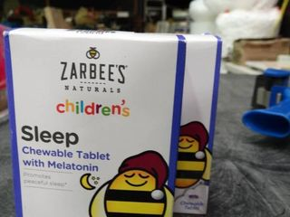 2 Boxes of Zarbees Naturals Children s Sleep Chewable Tablets with Melatonin