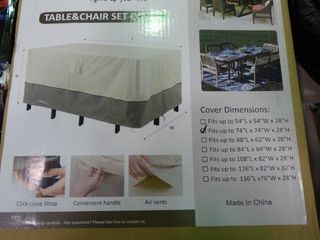 Cosfly Table and Chair Set Cover