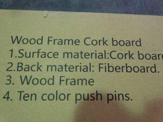 Wood Frame Cork Board