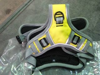 Yellow and Grey Dog Harness