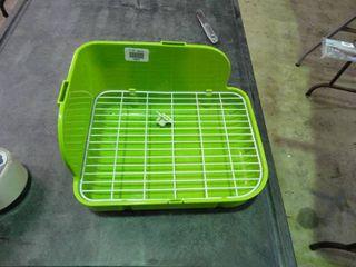 Green Plastic Corner Rack