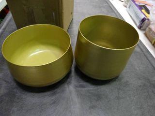 Pair of Metal Flower Pots
