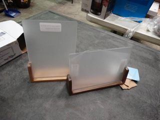 lot of 2 Wooden Photo Displays