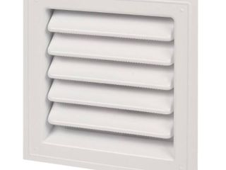 6 Gaf 5992318 12 x 12 in  Plastic Wall louver  White