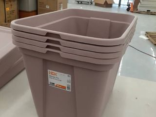 4  20gal Storage totes with lids