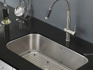 Ruvati Parmi 30  x 18 16  Undermount 16 Gauge Single Bowl Kitchen Sink  RINSE GRID NOT FOUND
