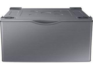 Samsung   Washer Dryer laundry Pedestal with Storage Drawer   Platinum