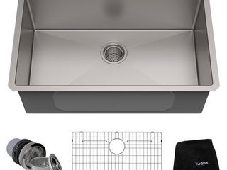 Kraus 30 inch Undermount Single Bowl 16 gauge Stainless Steel Kitchen Sink