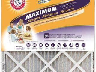 4 Arm   Hammer Maximum Allergen and Odor Reduction Air Filter  14  x 25 x 1