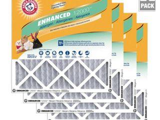 Arm   Hammer 14 x 14 x 1 Enhanced Allergen and Odor Control FPR 6 Air Filter  4 Pack