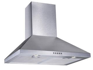 Vissani 30 in  W Convertible Wall Mount Range Hood with 2 Charcoal Filters in Stainless Steel  Silver