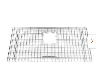 SinkSense Alder 27 5 in  x 14 in  Bottom Grid for Kitchen Sinks in Stainless Steel
