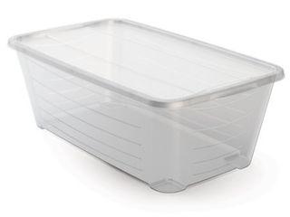 life Story 5 5 Quart Rectangular Clear Plastic Protective Storage