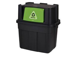 Rubbermaid 18 Gallon Flip Door Stackable Recycle Bin