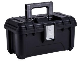 Husky 16 In  Plastic Tool Box With Metal latches In Black