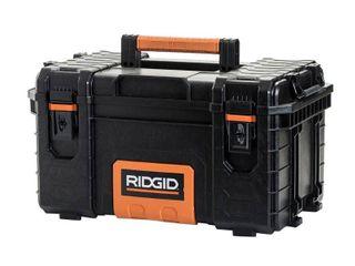 ridgid 222570 22 in  pro tool box  black DAMAGED  MISSING ONE lATCH