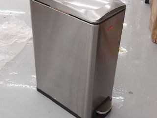 45 liter Stylish Slim Stainless Steel Trash Can  MGCS A196430004