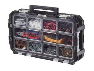 Husky 10 compartment Interlocking Small Parts Organizer Black