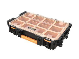 RIDGID Pro System Gear 10 Compartment Small Parts Organizer  Black