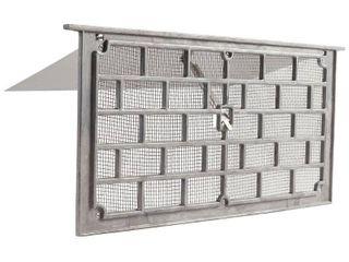 Gaf lW1 Grill Foundation Vent with Damper  50 sq in  Aluminum  Mill per 12 EA