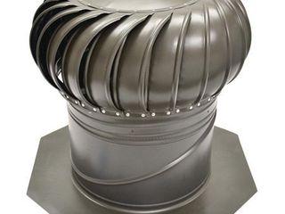 GAF Master Flow AIC14WW Internal Braced Rotary Turbine Ventilator  14 in  Aluminum