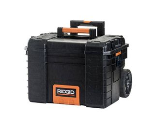RIDGID 22 in  Pro Gear Cart Tool Box in Black DAMAGED  HANDlE DOES NOT GO UP OR DOWN