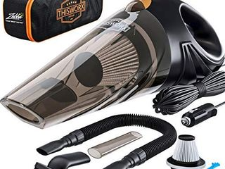 Portable Car Vacuum Cleaner  High Power Corded Handheld Vacuum w  16 foot cable   12V   Best Car   Auto Accessories Kit for Detailing and Cleaning Car Interior
