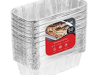 Aluminum Pans for Bread loaf Baking  50 Pack  8x4 Aluminum Foil loaf Pan   2 lb Bread Tins  Standard Size  Compatible with Roadpro 12 Volt Portable Stove   Perfect for Baking Cakes  Meatloaf  lasagna