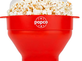 The Original Popco Silicone Microwave Popcorn Popper With Handles  Silicone P