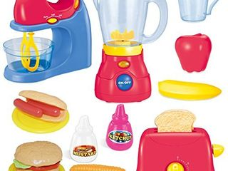 JOYIN Assorted Kitchen Appliance Toys with Mixer  Blender and Toaster Play Kitchen Accessories