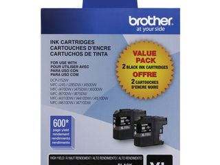 Brother   lC1032PKS Xl High Yield 2 Pack Ink Cartridges   Black   Black